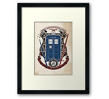 crest of the knight of fandom (a LOT of fandoms actually ;) Framed Print