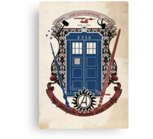 crest of the knight of fandom (a LOT of fandoms actually ;) Canvas Print