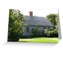 Martha's Vineyard Oldest House Greeting Card