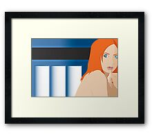 Blue Pond Pin Up Framed Print