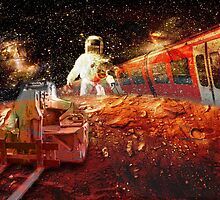 Spaceman - grand trans-mars railway by Krzyzanowski Art