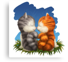 For LOVERS. For Beloved. Two kittens in love Canvas Print
