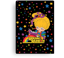 Reading Rainbow Brite Canvas Print