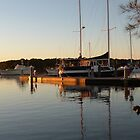 Sunset Reflection at Harbour! 'Tin Can Bay' Queensland. by Rita Blom