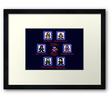 Captain America Screen Select (Megaman Style) Framed Print
