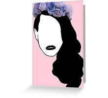 Lana Del Rey - Simplistic - Lips Greeting Card