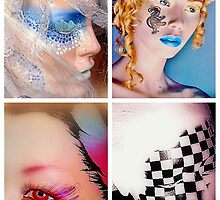 Four painted mannequins - tiled arrangement by cherylkerkin