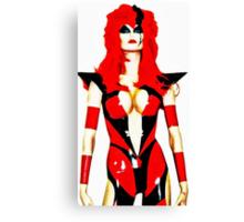 Sci-fi female character Canvas Print