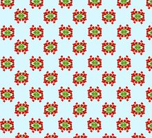 Red tulip pattern by stuwdamdorp