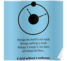 THE MANHATTAN CLOCK.  Poster