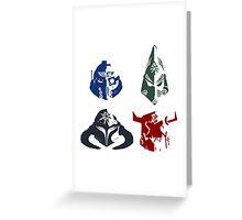 Eternal Crusade - White & Colour Greeting Card