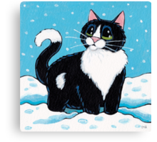 Knee Deep in the White Stuff Canvas Print