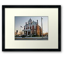 The Aaron G. Cloud House, now the McCoy Memorial Library Illinois Framed Print