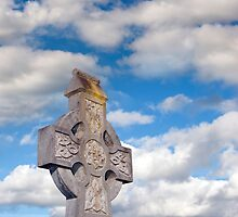cloudy sky celtic cross by morrbyte