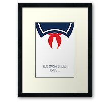 Ghostbusters Minimalist Series - Stay Puft Marshmallow Man Framed Print