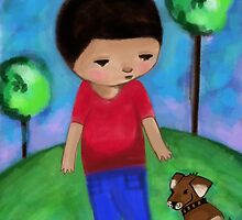 Boy and Dog by Beatrice  Ajayi