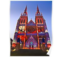 St Marys Cathedral (Governor Macquarie) - Vivid Festival - Sydney - Australia Poster