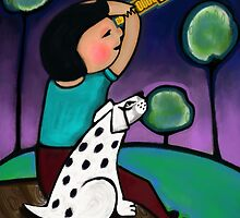'Watching The Moon' by Beatrice  Ajayi