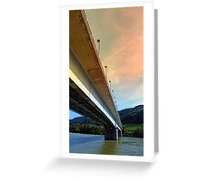 Danube river bridge | architectural photography Greeting Card