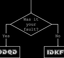 Was it your fault? - flowchart by finiteresource