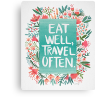Eat Well, Travel Often – Bouquet Canvas Print
