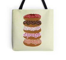 Donuts Stacked on Cream Tote Bag