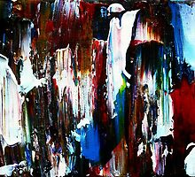 Coney Island (Part 1) acrylics on stretched canvas abstract impressionism by JamesPeart