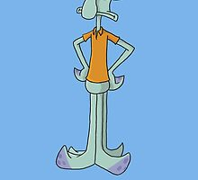 Squidward is Not Amused by jbrinkleyart