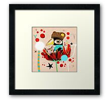 The light was off but now it's on Framed Print