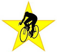 Cyclist Silhouette Star by kwg2200