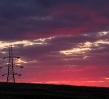 Sunset  pylons by chris2766