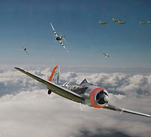 Fw 190 - P47 - Strike Back by Pat Speirs