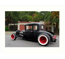 1930 Ford 'Fifties Style' Hot Rod Coupe Art Print