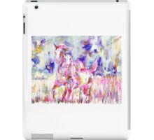 RUNNING HORSE and FOAL.1 iPad Case/Skin