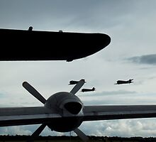 Homeward Bound - Formation of C-47s , Duxford 2014 by PathfinderMedia