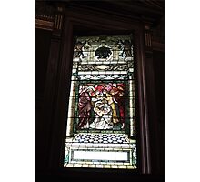 Baby Jesus Stained Glass Photographic Print