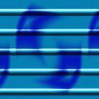 Blue Stripe Duvet by GolemAura