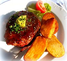 Ribeye steak with country potatoes by ©The Creative  Minds