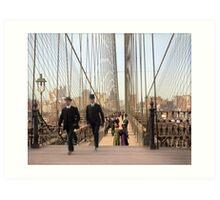 Brooklyn Bridge, New York, 1905 — Colorized Art Print