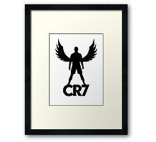 CR7 angel black Framed Print