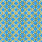 Blue and Gold Chain Pattern by Greenbaby