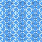 Blue and White Chain Pattern by Greenbaby