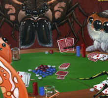 Spiders Playing Poker Sticker