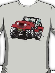 Funny 4x4 Rock Crawling Aliens T-Shirt