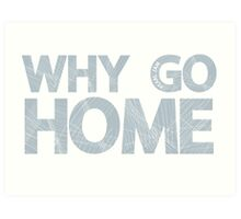 Why Go Art Print