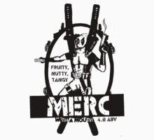 merc beer label black Kids Clothes