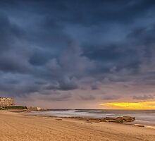 Sunrise at Newcastle Beach by VinImagery