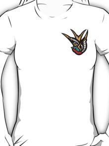 Swallow Tattoo Flash Logo T-Shirt
