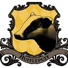 Hufflepuff House Crest by SedatedArtist