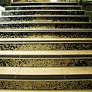 Staircase full of five cent coins - The Mint, Canberra by Bev Pascoe